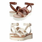 Coach Womens Platt Open Toe Buckle Ankle Strap Platforms Wedges Sandals Heels