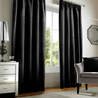 Soft CHENILLE Curtains BLACK SILVER CREAM RED Tape  46 66 90 108 PATIO LIVING