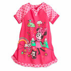 Disney Store Minnie Mouse Nightshirt Nightgown Girls Pink Coral  2017