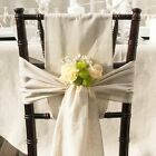 Natural Linen Ribbon Chair Sash Selvage finished Edge Table Runner Choose Size