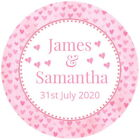PERSONALISED GLOSS QUALITY WEDDING ENGAGEMENT ANNIVERSARY STICKERS LABELS