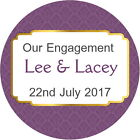 PERSONALISED GLOSS QUALITY PLUM WEDDING ENGAGEMENT ANNIVERSARY SEALS STICKERS