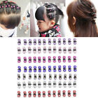 12Pcs Girls Sweet Alloy Rhinestone Flower Mini Hair Claws Clips Pin Clamps
