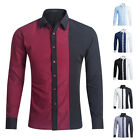 Long Sleeves Men's Blouse Fashion Shirt hombres Camisa Hombres Ropa HF