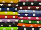 """10 Assorted Cot sheets 52x22 Nickle Quarter Polka Dot Fabric 7/8"""" Day Care JAM"""