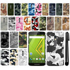 For Motorola Moto X Play XT1562/ XT1565 Camo Design HARD Back Case Cover + Pen