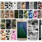 "For Motorola Moto G5 Plus 5.2"" Camo Design HARD Back Case Phone Cover + Pen"