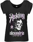 ASKING ALEXANDRIA I Won't Give In ROLLED SLEEVE WOMENS GIRLIE T-SHIRT OFFICIAL