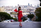 Alexis Odette Dress Off-The-Shoulder Red Lace formfitting new