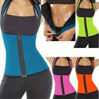 Thermo Sweat Neoprene Body Shaper Slimming Waist Trainer Cincher Yoga Zip Vest