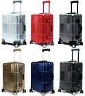 """All Aluminum Luxury Hard Luggage Carry-On 20"""" Durable 360 Degree Spinner Cloud 9"""