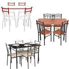 5PCS Modern Dining Table with 4 Chairs Set Dinette Kitchen 4 Person Seat L4Z7