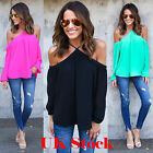 Fashion Summer Women Loose T Shirt Off Shoulder Tops Long Sleeve Casual Blouse