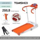 TOMSHOO 1100W Portable Motorized Running Machine Folding Electric Treadmill W3E4