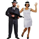 GANGSTER AND FLAPPER COUPLES COSTUME 1920'S FANCY DRESS THE GREAT GATSBY OUTFIT