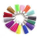10/ 100Pcs Mixed Color Suede Tassels Charm DIY Pendants Necklace Jewelry Making