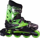 Linear Green Lazer Inline Skates - Indoor Outdoor Roller Blades
