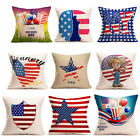 Vintage American Flag Pillow Cases Linen Home Bed Sofa Cushi
