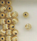 14k Gold Filled 8mm Corrugated Round Spacer Beads, Choice of Lot Size & Prices