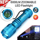 6000LM Q5 AA/14500 ZOOMABLE LED 3 Modes Flashlight Super Bright Torch Light asjh