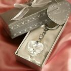 Crystal Heart Key Chain Wedding Shower Party Favors - 30-144 Qty