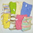 Hand Knit Handmade SOAP SAVER BAG Pouch Pocket PICK All Cotton or Polyester Mix
