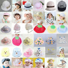 Fashion  Baby Boys Girls Sun Hat Outdoor Baseball Cap Beret Mesh Cotton Summer