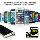 New 16GB-64GB Micro SD SDHC Memory Card with Adapter For Samsung Mobile Phone UK