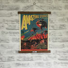 Amazing Stories Magazine Cover 1927 Print with Oak Hanger