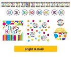AGE 60 - BRIGHT & BOLD Party Tableware Disposable Birthday Supplies {CREATIVE}