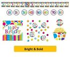 AGE 70 - BRIGHT & BOLD Party Tableware Disposable Birthday Supplies {CREATIVE}