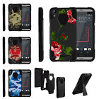 For HTC Desire 530 | Desire 630 | Desire 550 Dual Layer Stand Case Chic Flowers