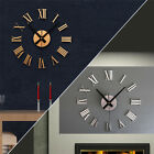 Creative Acrylic Wall Clock Metal Texture 3D DIY Roman Digital Wall Clock