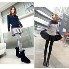 Hot Lady Women Skirt Leggings Warmers Footless Cotton Pleated Long Pants B20E02