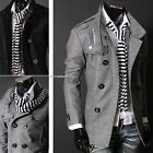 Double breasted Trench Men Topcoat Woolen Outwear Jacket Winter Warm Overcoat01