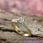 Round Diamond Engagement Ring Size 7.5 14k Solid Gold 1.36 CT VS D-F Enhanced