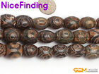 Natural Olivary Agate Gemstone Tibetan DZI Mala Prayer Beads Jewelry Making 15""