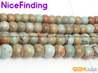 Natural Gray Blue Shoushan Gemstone Rondelle Spacer Beads For Jewelry Making 15""
