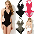 Women's One Piece Monokini Swimsuit Swimwear Beachwear Push Up Bathing Bikini