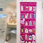 Nonwovens,PVC Home Shoe Toy Over the Door Hanging Organizers Storage Bag 4 Hooks
