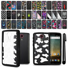 For ZTE N817 Quest Uhura Hybrid Clear TPU bumper Case Phone Cover + Pen