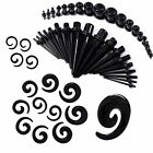 36PCS Ear Stretcher Expander Acrylic Spiral Tapers Tunnel Plugs Gauges Piercing