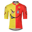 Smlie Men Cycling Jersey Breathable Bike Jersey Shirt Mountain Bicycle Clothing