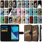 "For Samsung Galaxy J7 2017/ J7V 5.5"" Slim Canvas Wallet Pouch Case Cover + Pen"