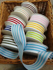 Woven Stripe Grosgrain Ribbon - 38mm - 7 Colours & various lengths. CLEARANCE