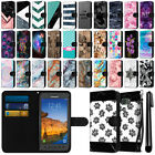 For Samsung Galaxy S7 Active G891 Ultra Slim Canvas Wallet Case Cover + Pen
