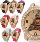 Luxury Crystal Tower Design Lady Girl Women Quartz Wrist Watch Bracelet Relogios