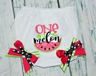 One In A Melon Baby Bloomers Bow Watermelon Diaper Cover Girls Bloomer Birthday