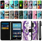 For LG G Stylo LS770 G4 Note Ultra Slim Canvas Wallet Pouch Case Cover + Pen