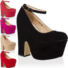 85S WOMENS FAUX SUEDE LADIES CUT OUT WEDGE HEEL PLATFORM COURT SHOES SIZE 3-8